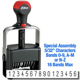 Special Assembly 16 Wheel Shiny Heavy Duty Number Stamp 5/32 Characters
