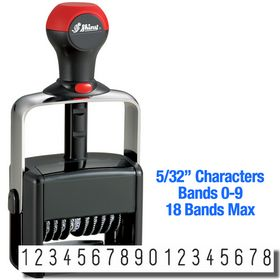 18 Wheel Shiny Heavy Duty Self Inking Number Stamp 5/32 Characters