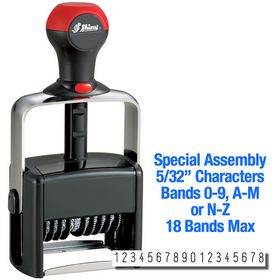 Special Assembly 18 Wheel Shiny Heavy Duty Number Stamp 5/32 Characters