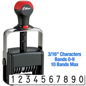 10 Wheel Shiny Heavy Duty Number Stamp 3/16 Characters