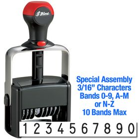 Special Assembly 10 Wheel Shiny Heavy Duty Number Stamp 3/16 Characters