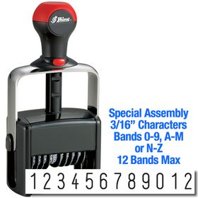 Special Assembly 12 Wheel Shiny Heavy Duty Number Stamp 3/16 Characters