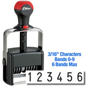 6 Wheel Shiny Heavy Duty Number Stamp 3/16 Characters