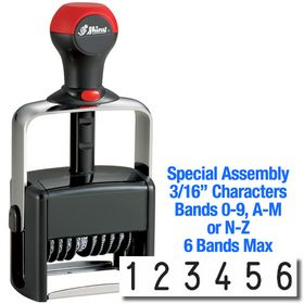 Special Assembly 6 Wheel Shiny Heavy Duty Number Stamp 3/16 Characters