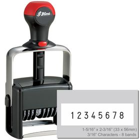 8 Wheel Shiny Heavy Duty Number Stamp 3/16 Characters with Plate