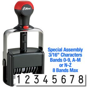 Special Assembly 8 Wheel Shiny Heavy Duty Number Stamp 3/16 Characters