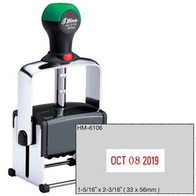 Self Inking Custom Text and Date Stamper
