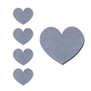 Silver Heart Foil Seals Qty 40