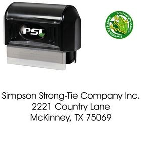 PSI Pre-Inked Avant Garde Plain Address Ink Stamp
