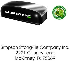 Slim Avant Garde Plain Address Ink Stamp
