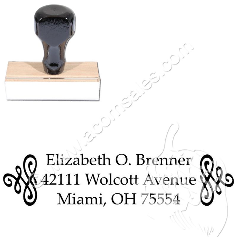Scroll palatino customized address ink stamp regular stamps scroll palatino customized address ink stamp pronofoot35fo Images