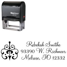 Self-Inking Montere Regular Custom Address Ink Stamp