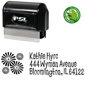 Pre-Ink Burst Lounge Bait Personal Address Ink Stamp