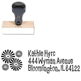Burst Lounge Bait Personal Address Ink Stamp