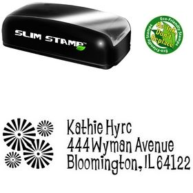 Slim Pre-Inked Burst Lounge Bait Personal Address Ink Stamp