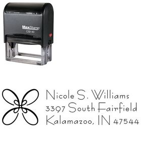 Self Ink Loop Bernhard Fashion Personalized Address Ink Stamp