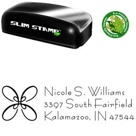 Slim Pre-Ink Loop Bernhard Fashion Personalized Address Ink Stamp