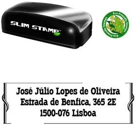 Slim Pre-Inked Western Typodermic Customized Address Rubber Stamp