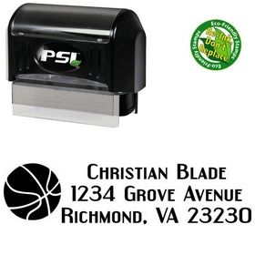 Pre-Inked 3 Basketball Address Stamp