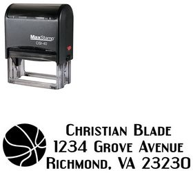 Self Ink 3 Basketball Address Stamp