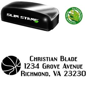 Slim 3 Basketball Address Stamp