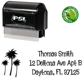 Pre-Inked Palms Lounge Bait Creative Address Stamp