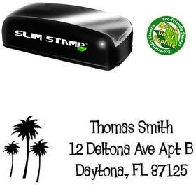 Portable Palms Lounge Bait Creative Address Stamp