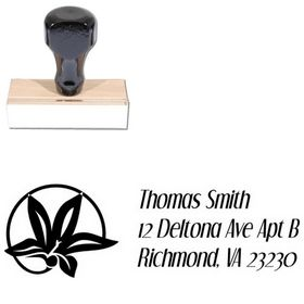 Flower Circle Dream Orphans Custom Address Stamp