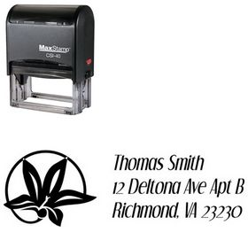 Self-Inking Flower Circle Dream Orphans Custom Address Stamp