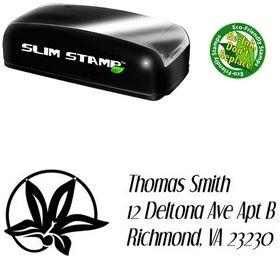 Slim Flower Circle Dream Orphans Custom Address Stamp