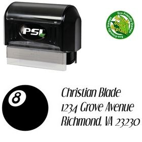 PSI Pre-Ink 8 Ball Orphan Dreams Inking Address Stamp