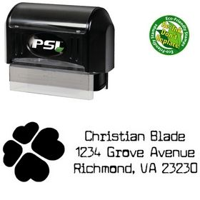 Pre-Inked Clover Cuomotype Personalized Address Stamp