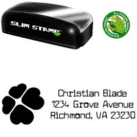 Slim Pre-Inked Clover Cuomotype Personalized Address Stamp