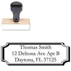 Plaque Garamond Address Stamper