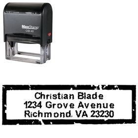Self Stamping Inked Creative Address Stamper