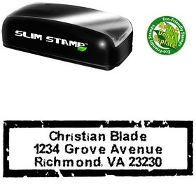 Slim Inked Creative Address Stamper