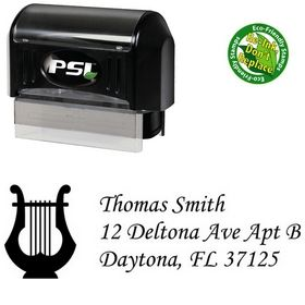 Pre-Ink Harp Monotype Corsiva Custom Address Stamper