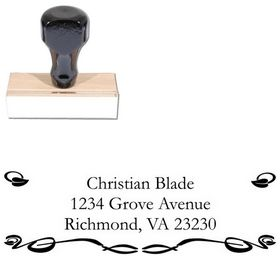 Vine Garamond Customized Address Stamper