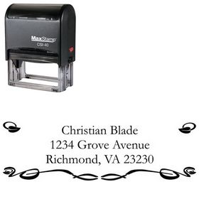 Self Inking Vine Garamond Customized Address Stamper