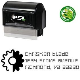 Pre-Inked Gear Decoder Personalized Address Stamper