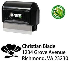Pre-Ink Rose Morals Customized Address Ink Stamp