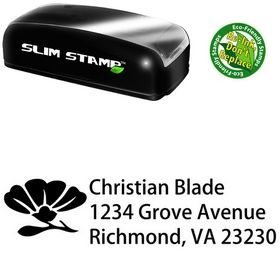 Slim Pre-Ink Rose Morals Customized Address Ink Stamp