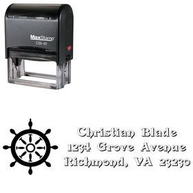 Self-Inking Rudder Swash Creative Address Ink Stamp