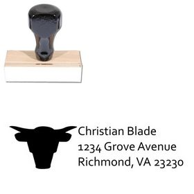 Bull Compliant Return Address Ink Stamp