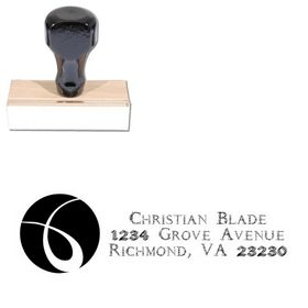 Circle Daemonesque Customized Address Rubber Stamp