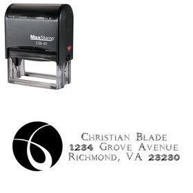 Self Inking Circle Daemonesque Customized Address Rubber Stamp