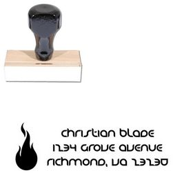 Fire Danube Initial Address Rubber Stamp