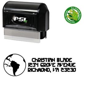 Pre-Inked Earth Collective Personal Address Rubber Stamp