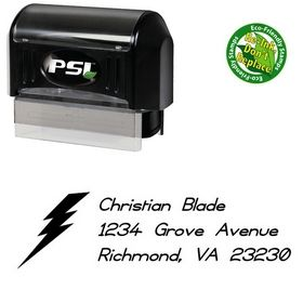 PSI Pre-Ink Thunder Compliant Customized Address Stamp