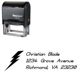 Self-Ink Thunder Compliant Customized Address Stamp